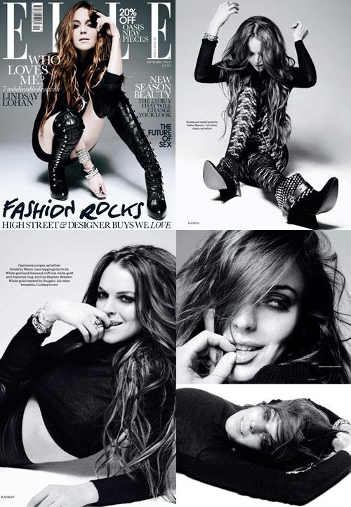 caf6fa7cd Cheia de estilo, é assim que Lindsay Lohan aparece na Elle britânica de  setembro. Rankin assina as fotos e Anne-Marie Curtis foi responsável pelos  looks.