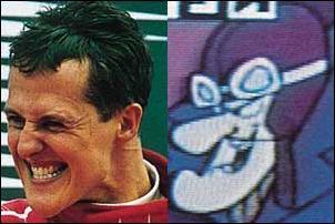 Schumacher e seu alter-ego