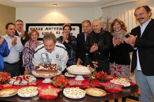 Dilma Rousseff participou da festa de aniversário de Lula
