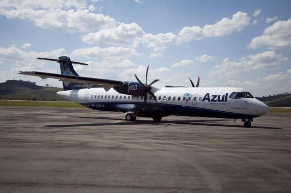 Azul não confirma, mas o voo a São Paulo deve ser feito em um avião modelo ATR para 70 pessoas
