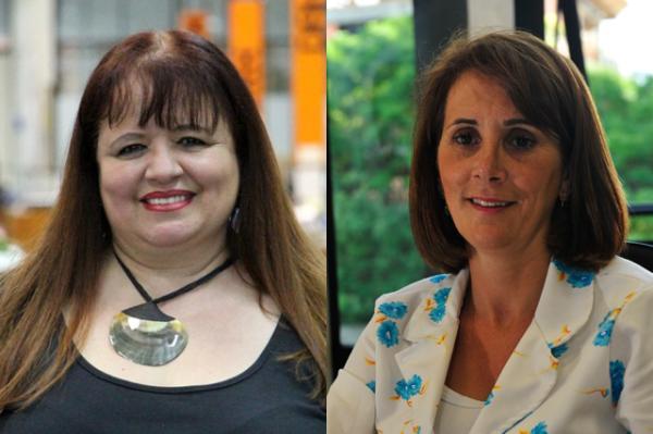 Janice Moraes (à esquerda), da 4ª CRE, deixou o partido. Solange Sonda, da 5ª CRS, optou por se licenciar do partido por um ano