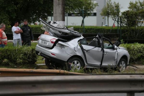 Acidente na SC-401 nesta segunda-feira, em Florianópolis