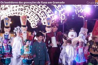 Os bastidores das gravações de Xuxa em Gramado