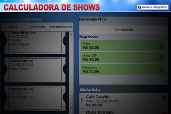 Calculadora de Shows