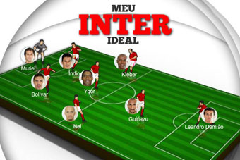 Monte seu time titular do Inter