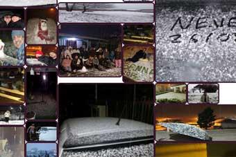 Internautas enviam fotos da neve em Caxias do Sul