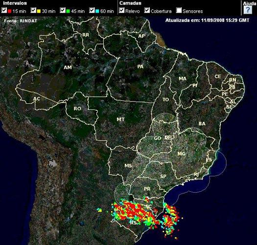 mapa tempo real Sistema de detecção de raios em tempo real na inter mapa tempo real
